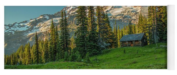 Cabin On The Hill Yoga Mat