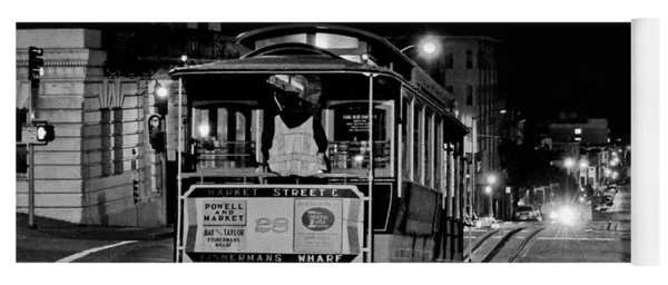 Cable Car At Night - San Francisco Yoga Mat