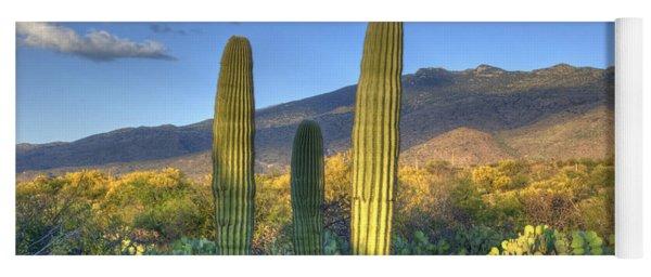 Cactus Desert Landscape Yoga Mat