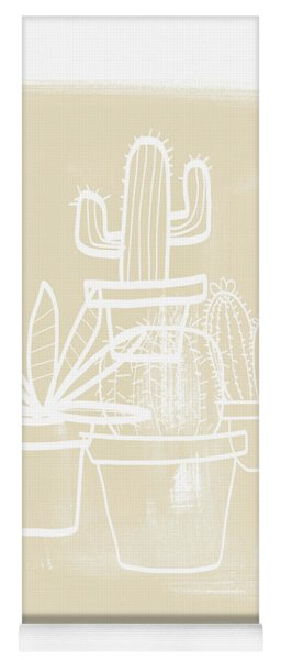 Cactus In Pots- Art By Linda Woods Yoga Mat