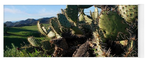 Cactus In The Mountains Yoga Mat