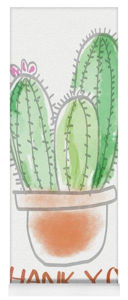 Cactus Thank You - Art By Linda Woods Yoga Mat