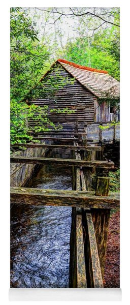 Cades Cove Grist Mill In The Great Smoky Mountains National Park  Yoga Mat
