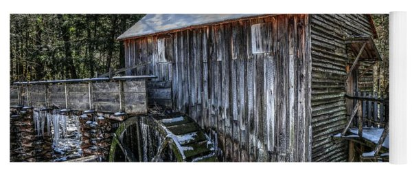 Cades Cove Grist Mill In Winter Yoga Mat