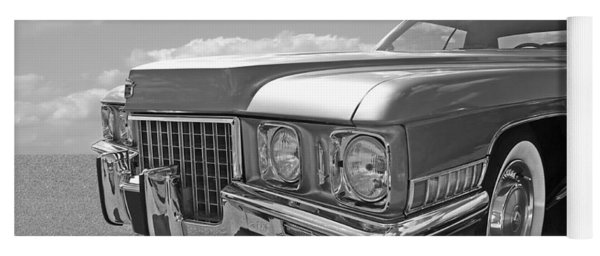 Cadillac Coupe De Ville 1971 In Black And White Yoga Mat