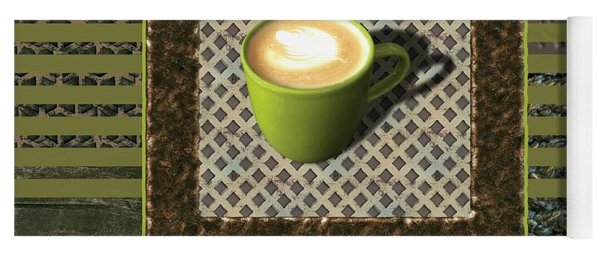 Cafe Au Lait - Coffee Art - Green Yoga Mat
