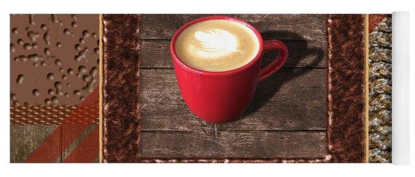 Cafe Au Lait - Coffee Art - Red Yoga Mat