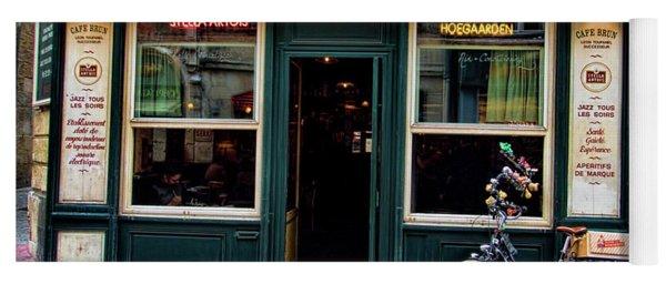 Cafe Brun In L'orient France Yoga Mat