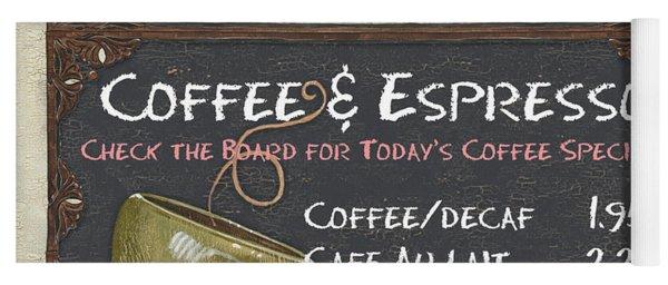 Cafe Chalkboard Yoga Mat