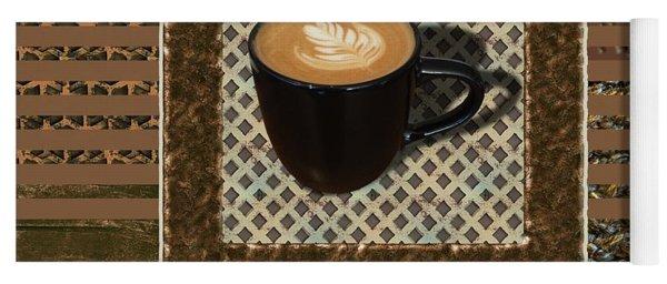 Cafe Latte - Coffee Art - Caramel Yoga Mat