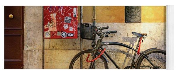 Cafe Racer Bicycle Yoga Mat