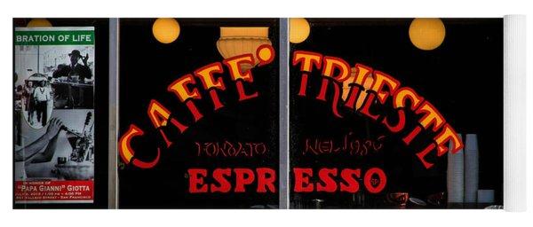 Caffe Trieste Espresso Window Yoga Mat