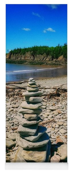 Cairn In Eastern Canada Yoga Mat