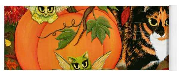Calico's Mystical Pumpkin Yoga Mat