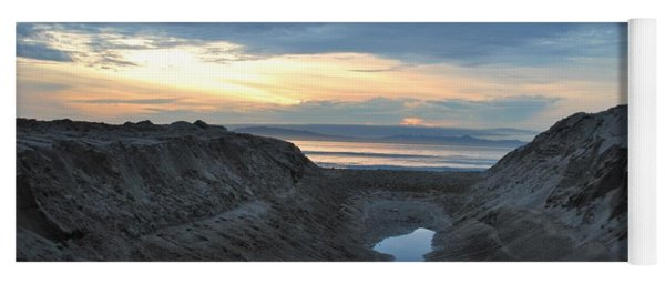 California Beach Stream At Sunset - Alt View Yoga Mat