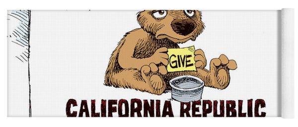 California Budget Begging Yoga Mat