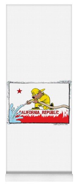 California Firefighter Flag Yoga Mat