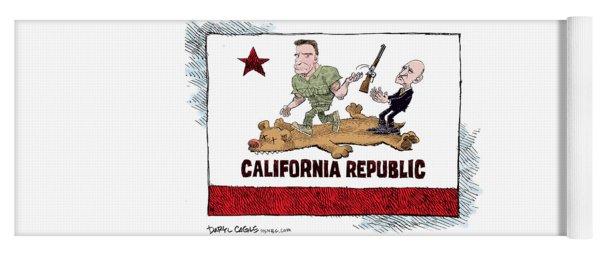 California Governor Handoff Yoga Mat