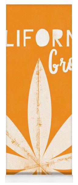 California Grown Cannabis Orange- Art By Linda Woods Yoga Mat