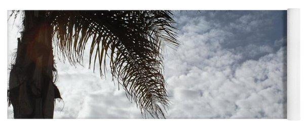 California Palm Tree Half View Yoga Mat