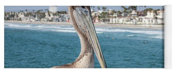 Yoga Mat featuring the photograph California Pelican by John Wadleigh