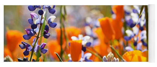 California Poppies And Lupine Yoga Mat