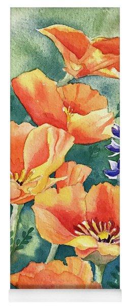 California Poppies In Bloom Yoga Mat