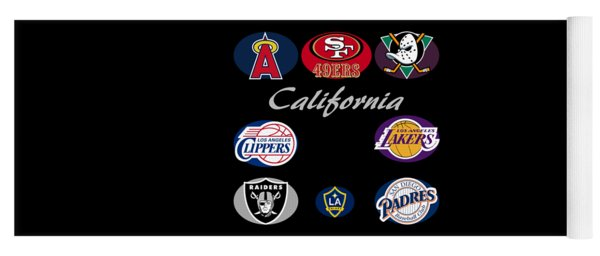 California Professional Sport Teams Collage  Yoga Mat