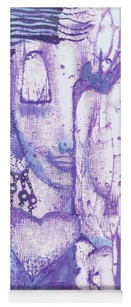 Yoga Mat featuring the mixed media Calling Upon Spirit Animals by Prerna Poojara