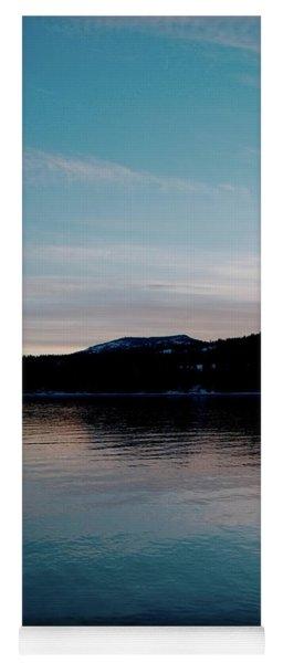 Calm Blue Lake Yoga Mat