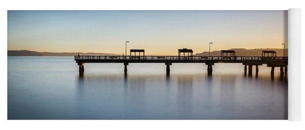 Calm Morning At The Pier Yoga Mat
