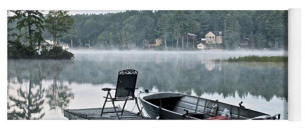 Calm Morning On Little Sebago Lake Yoga Mat