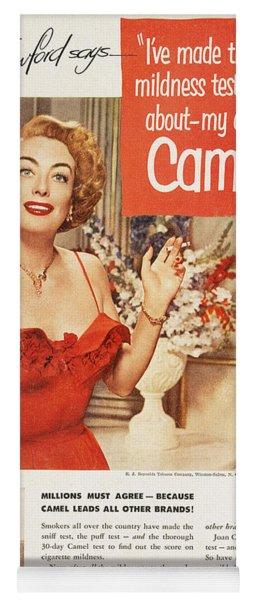 Camel Cigarette Ad, 1951 Yoga Mat