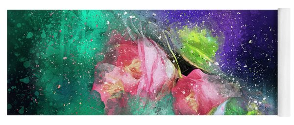 Camellias In A Galaxy Far Far Away Yoga Mat
