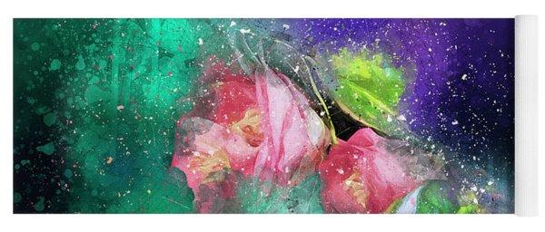 Camellias In A Galaxy Far Far Away Yoga Mat
