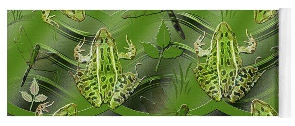 Camo Frog Dragonfly Yoga Mat