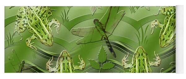 Camo Frog Dragonfly Yoga Mat