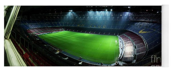 Camp Nou At Night Yoga Mat