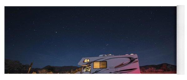 Camper Under A Night Sky Yoga Mat