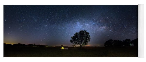 Camping Under The Milky Way Yoga Mat