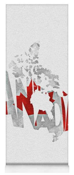 Canada Typographic Map Flag Yoga Mat
