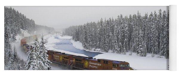 Canadian Pacific Train At Morants Curve Yoga Mat