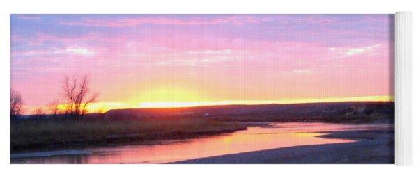 Canadian River Sunset Yoga Mat