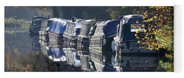 Canal Boats Wey Canal Surrey Yoga Mat