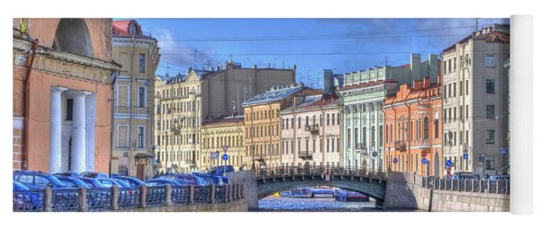 Canal In St. Petersburgh Russia Yoga Mat