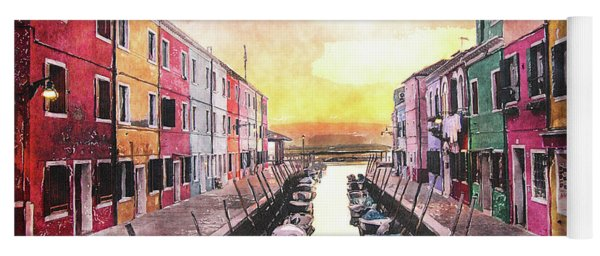 Canal In Venice Italy Yoga Mat