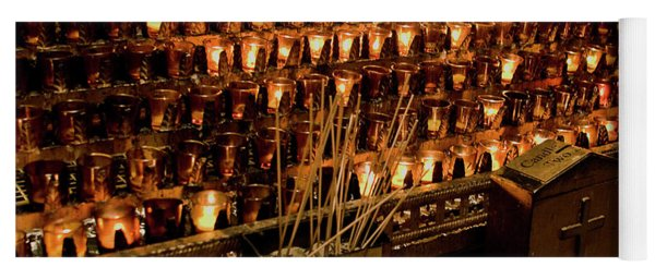 Candle Offerings St. Patrick Cathedral Yoga Mat