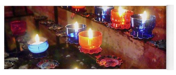 Candles Yoga Mat