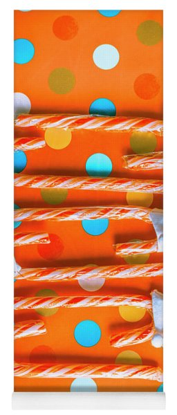 Candy Canes And Christmas Hats Yoga Mat