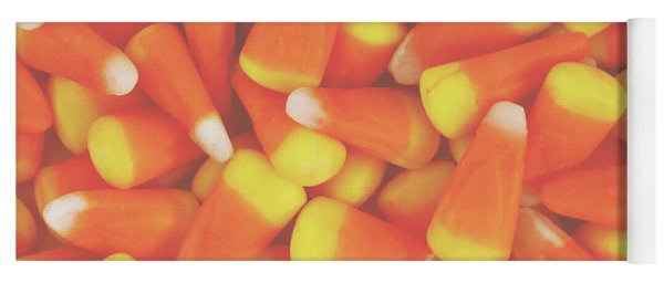 Candy Corn Square- By Linda Woods Yoga Mat